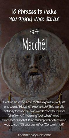 Italian Phrases Macche
