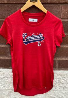 Levelwear St Louis Cardinals Womens Red Lux T-Shirt - 20820360