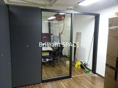 Glass System Wall 黃竹坑IT公司 (雙面板不上頂屏風) 3