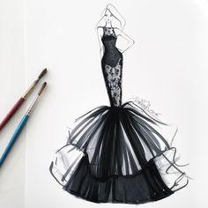 """""""Drama with a side of brunch #fashionsketch #fashionillustrator…"""