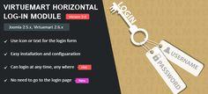 FREE Virtuemart Horizontal log-in module