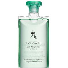 BVLGARI 'Eau Parfumee au the vert' Shampoo and Shower Gel (1,705 THB) ❤ liked on Polyvore featuring beauty products, bath & body products, body cleansers, no color, bath & body, bulgari and body cleanser