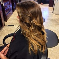 #hairbymallery #colorbymallery  Couture Hair Design Port St Lucie FL Ombré, balayage, sun kissed  Brown caramel ombre