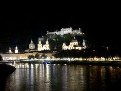 Blick vom Müllner-Steg Richtung Altstadt Salzburg, New York Skyline, Travel, Old Town, Environment, Viajes, Destinations, Traveling, Trips