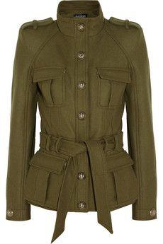 Balmain Cotton-blend felt jacket | THE OUTNET