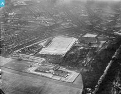 An oblique aerial photograph taken facing north. Football Stadiums, Chevrolet Logo, Britain, Scotland, Around The Worlds, Park, Photograph, Club, Pictures