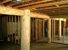 Log Home Pictures Interior Exterior Small Log Cabin, Log Cabin Kits, Log Cabin Homes, Log Cabins, Rustic Basement, Basement Walls, Basement Ideas, Aqua Blue, Bergen