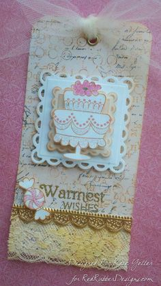 Wedding Gift Tag ~*~ Background Soup ~*~ Sugar Coated Sweetness ~*~ Contemporary Greetings ~*~ All from Red Rubber Designs www. Wedding Gift Tags, Personalized Wedding Gifts, Wedding Ideas, Handmade Tags, Pin Art, Paper Tags, Artist Trading Cards, Craft Organization, Creative Cards