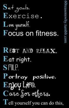 It's self respect.