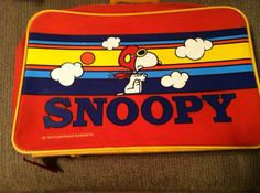 World War Flying Ace Snoopy Suitcase on Etsy, $45.00