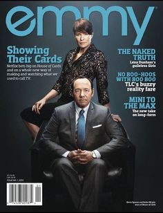 kevin spacey magazine covers | Emmy Magazine: House of Cards (Kevin Spacey, Robin Wright)
