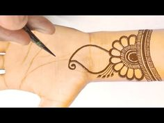 #numbermehndidesign - YouTube Mehndi Designs For Beginners, New Mehndi Designs, Mehandi Designs, Beautiful Mehndi Design, Create And Craft, Craft Work, Mehendi, Henna, Colours