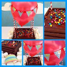 Tarta para Cumpleaños con Globo Aerostático | Fiestas y Cumples