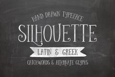 Silhouette ~ Script Fonts on Creative Market