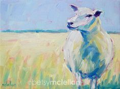 Sheep Original Painting by betsymclellanstudio on Etsy