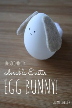 Easter Egg Bunny | 14 Cute Easter Bunny Ideas | DIY Home Decor by Pioneer Settler at http://pioneersettler.com/easter-bunny-ideas/
