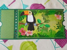 Toucan Craft, Ticket Card, Marianne Design Cards, Diy And Crafts, Paper Crafts, Bird Cards, Pink Parties, Stamping Up, Happy Day