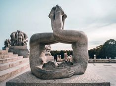 That's how I would describe Frogner Park in Oslo, Norway created by Norweigan artist Gustav Vigeland. Norway Tourist Attractions, Tourist Places, Places To Travel, Travel Destinations, Psychological Thriller Movies, Norway Oslo, Human Sculpture, Wheel Of Life, Greek Gods And Goddesses