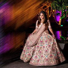 These Light Colored Bridal Lehengas Will Make You Ditch Reds & Pinks! Summer Wedding Outfits, Wedding Attire, Summer Weddings, Bridal Outfits, Designer Bridal Lehenga, Lehenga Designs, Bride Look, White Bridal, Bridal Portraits