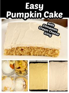 I'm a dessert every day kind of person and sheet cakes are one of my go- to desserts. This pumpkin sheet cake is one of the best fall desserts I've ever made. The cream cheese icing makes this simple cake something special. Pumpkin Sheet Cake, Pumpkin Pie Bars, Pumpkin Cake Recipes, Pumpkin Dessert, Easy To Make Desserts, Fall Desserts, Delicious Desserts, Dessert Recipes, Cream Cheese Recipes
