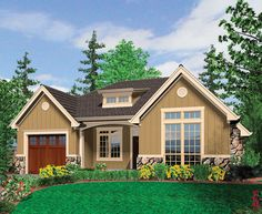 Plan 69121AM: European Cottage Plan with Living Areas Up Front