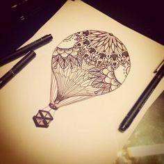 Drawing Notfinished Tattoo Balloon Doting Ifisake Saketattoocrew picture