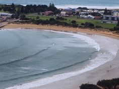 Apollo Bay...from high up on the hill. Calmer day with almost no wind. #ComeSeeAustralia #ApolloBay #ApolloBayBeach #GreatOceanRoad #LifeOnTheBeach #SaltAir #SeaSpray by j_o_s_h_k_a_t http://ift.tt/1LQi8GE