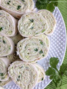 Avocado Chicken Salad Pinwheels