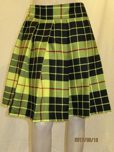 MacLeod Of Lewis Tartan Plaid Pleated Skirt Plus Size