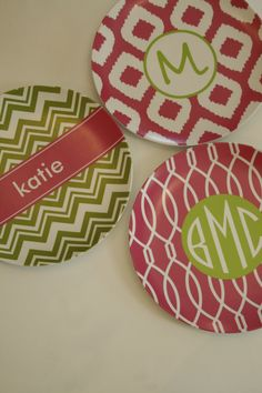 New designs on the monogram plates  at snappy-turtle.
