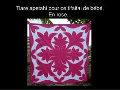 Tiare apetahi pour ce tifaifai de bébé. En rose...