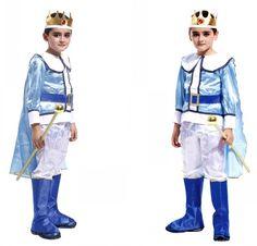 Niños de la manera Árabe Prince Cosplay para el Partido de la Etapa Ropa de Baile con Corona Envío Libre 89