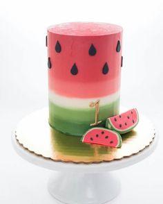 Cake Decorating For Beginners Kid Birthday Parties 49 Ideas Cake Decorating For Beginners, Cake Decorating Techniques, Watermelon Birthday Parties, Basic Cake, Yogurt Cake, Summer Cakes, Salty Cake, Buttercream Cake, Savoury Cake