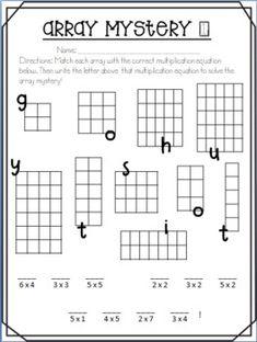 Hooray For Arrays! Teaching Multiplication, Multiplication And Division, Teaching Math, Multiplication Sheets, Multiplication Strategies, Math Fractions, Array Worksheets, Math Worksheets, Math Resources