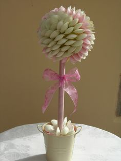 Flying Saucer Sweet Tree centre piece for that special table display.  www.pinkbonbon.co.uk