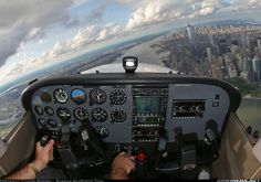 was flying with my dad before I was tall enough to see the ground without banking the plane myself =P Cessna 172 Private Pilot, Private Plane, Cessna Aircraft, Plane And Pilot, Cessna 172, Bush Plane, Flight Deck, Aircraft Pictures, Military Aircraft