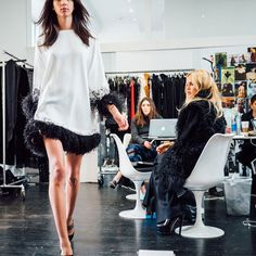Rachel Zoe and her team getting ready for the Fall 2016 presentation at New York Fashion Week.