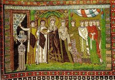 Theodora Mosaique de Ravenne costume byzantin