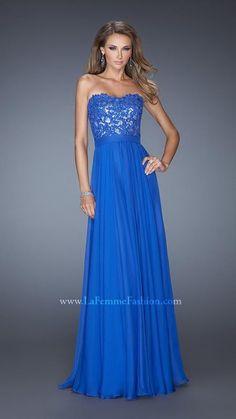 2014 Royal Lace La Femme Prom Dress 19834
