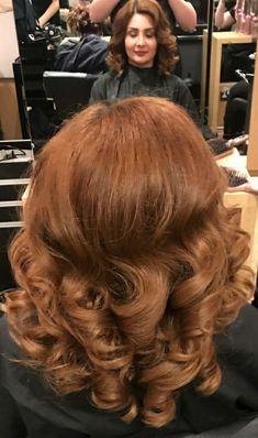 Full Hair, Big Hair, Short Brown Hair, Beautiful Long Hair, Vintage Hairstyles, Updo, Salons, Wave, Curly