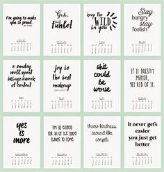 FREEBIE: printable 2015 Kalender Ann.Meer by Anna-Maria Dahms