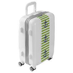 #Green and Blue Anchor Ugo Luggage Suitcase - #luggage #suitcase #suitcases #bags #trunk #trunks