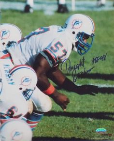 Dwight Stephenson Miami Dolphins Signed/Autographed 8x10 Photo INSCR. HOF 98 SI