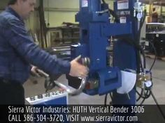Available at Sierra Victor Industries: HUTH Vertical Bender. Model  3006. For more information or to order, CALL 386-304-3720, VISIT http://sierravictor.com/index.php?dispatch=products.view&product_id=3842