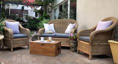 Cane Patio Set 4 Seater New. Cushions and Table not included. For Sale in Montague Drive