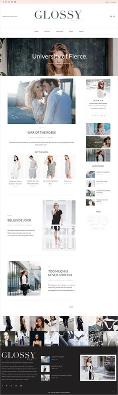 Glossy is a stylish #WordPress #theme for #fashion blog with 4+ different homepage layouts download now➩ https://themeforest.net/item/glossy-fashion-blog-theme-for-stylish-affiliation/17959444?ref=Datasata