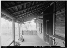 5.  Historic American Buildings Survey E. W. Russell, Photographer, January 15, 1937 LOOKING SOUTH IN FRONT PORCH - Vogtner Farm (House & Smokehouse), Jeff Hamilton Road vicinity, Dawes, Mobile County, AL