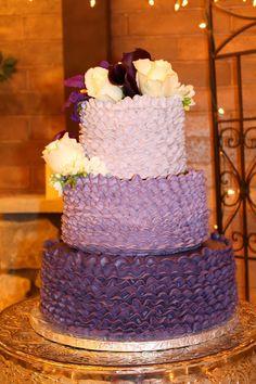 Purple Ombre Buttercream Ruffles.  CMH CAKES