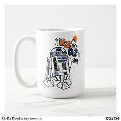 R2-D2 Doodle Coffee Mug Star Wars Mugs, Star Wars Gifts, Star Wars Store, R2 D2, Christmas Card Holders, Keep It Cleaner, Photo Mugs, Funny Jokes, Tea Cups