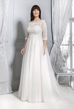 f0fd50174d Plus Size 2015 - Kolekcja sukni ślubnych Agnes - koronkowe suknie ślubne  Skromne Suknie Ślubne